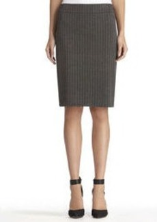 The Lucy Ponte Knit Pinstripe Pencil Skirt
