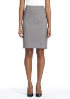 The Lucy Slim Skirt in Birdseye Seasonless Stretch (Petite)