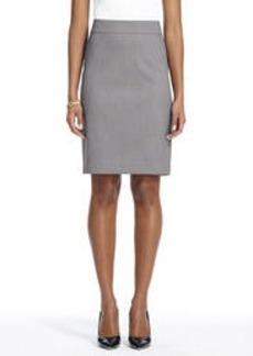 The Lucy Slim Skirt in Birdseye Seasonless Stretch (Petite)