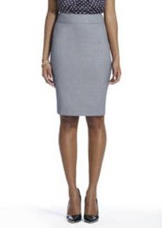 The Lucy Slim Skirt in Birdseye Seasonless Stretch (Plus)