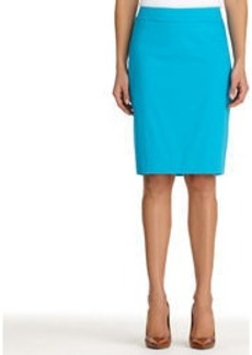 The Lucy Stretch Cotton Sateen Pencil Skirt