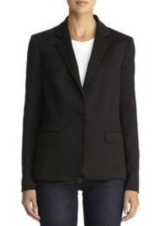 The Meredith Ponte Knit One-Button Blazer (Petite)