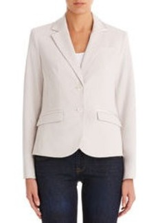 The Olivia Two Button Blazer with Ribbon Trim