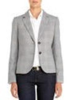The Olivia Two-Button Glen Plaid Blazer