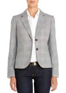 The Olivia Two-Button Glen Plaid Blazer (Petite)