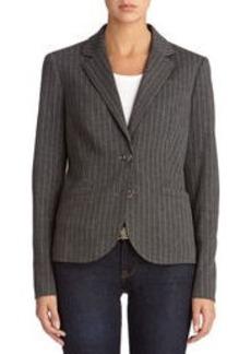 The Olivia Two-Button Ponte Knit Pinstripe Blazer