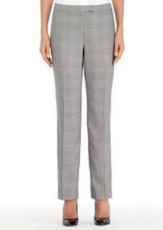 The Sydney Slim-Leg Glen Plaid Pants (Plus)