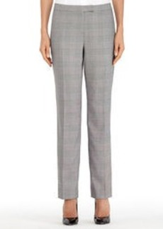 The Sydney Slim-Leg Glen Plaid Pants (Plus)