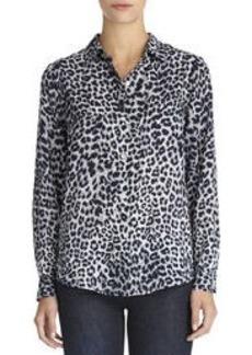 The Taylor Leopard Print Shirt (Plus)