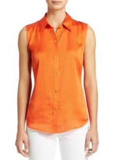 The Taylor Sleeveless Button Front Blouse (Plus)