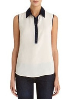 The Taylor Sleeveless Popover Shirt (Petite)