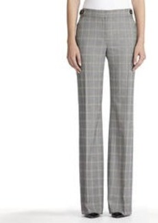 The Zoe Glen Plaid Pants with Side Buckles