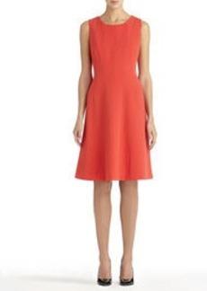 Topstitched Sleeveless A-Line Dress
