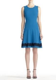 Tweed Dress with Drop Waist