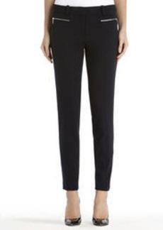 Twill Ponte Knit Slim Leg Pants