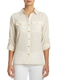 Utility Shirt with Roll Sleeves (Plus)