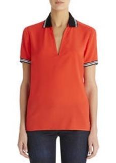 V-Neck Polo Shirt (Petite)