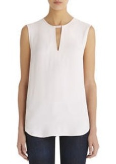 V-Neck Shell with Ribbon
