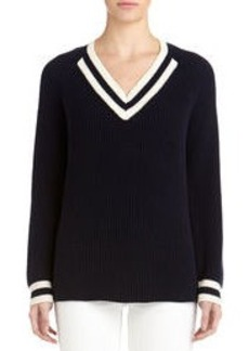 Varsity Pullover with Raglan Sleeves