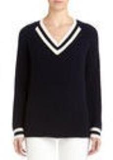 Varsity Pullover with Raglan Sleeves