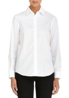White Non-Iron Easy-Care Relaxed Fit Shirt (Petite)