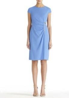 Wrap Dress with Zipper Waist
