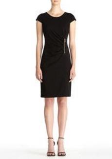 Wrap Dress with Zippered Waist