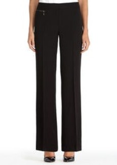 Zoe Black Pants with Zip Detail