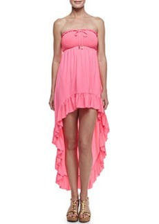 Juicy Couture Bow Chic Smocked High-Low Coverup