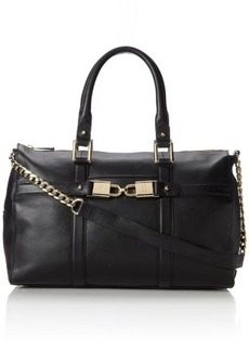 Juicy Couture Hillcrest Leather Satchel Top Handle Bag