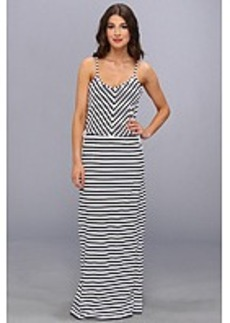 Juicy Couture Micro Terry Stripe Maxi Dress