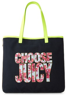 Juicy Couture Silverlake Beach Items Canvas Tote