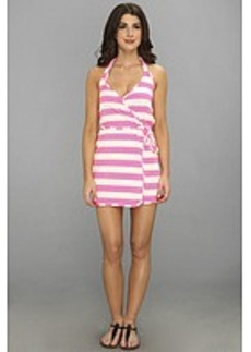Juicy Couture Sixties Stripe Wrap Cover Up Dress