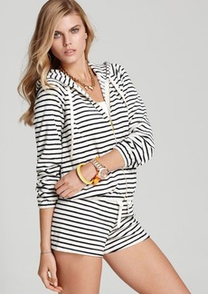 Juicy Couture Sunshine Striped Terry Hoodie