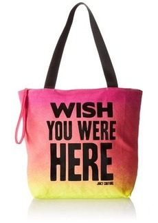Juicy Couture wish You Were Here Juicy Graphics Travel Tote