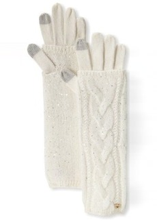 Juicy Couture Women's All That Glitters Sparkle Cable Layered Texting Glove