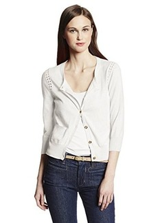 Juicy Couture Women's Cardigan with Pointelle Detail