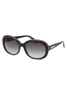 Juicy Couture Women's Oval Black patterned Sunglasses