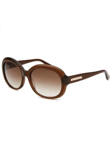 Juicy Couture Women's Oval Brown & Glittered Sunglasses