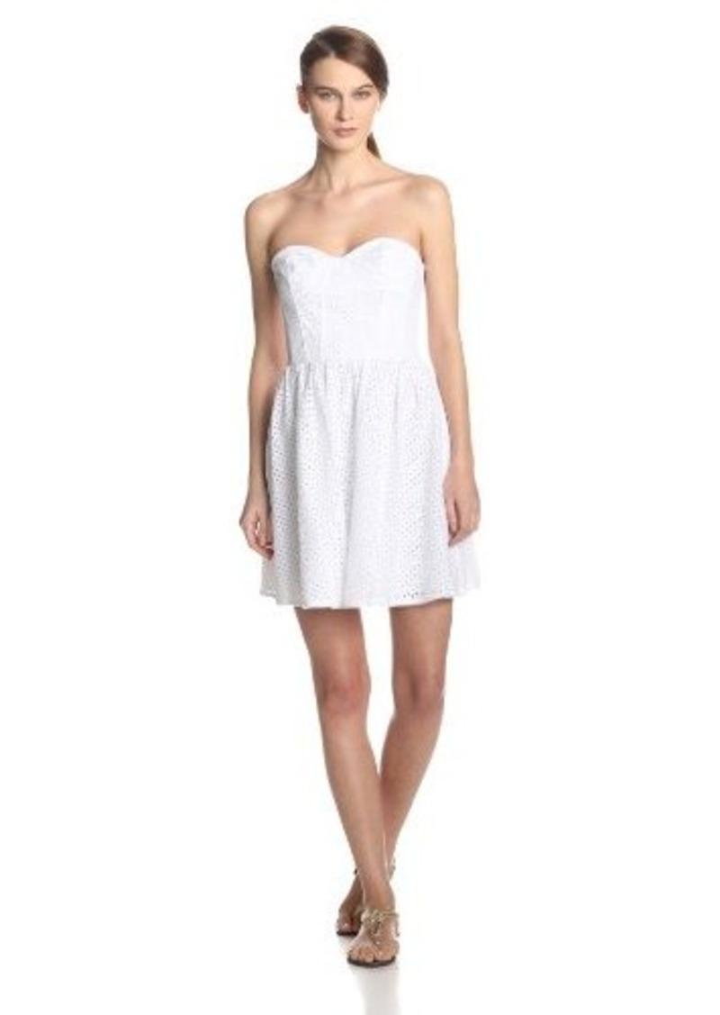 Beautiful Plus Size Eyelet Dress In Buttercup For Women