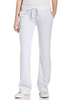 Juicy Couture Women's Solid Micro Terry Bootcut Pant