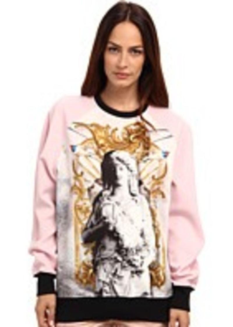 just cavalli just cavalli raglan sleeve print sweater outerwear shop it to me. Black Bedroom Furniture Sets. Home Design Ideas