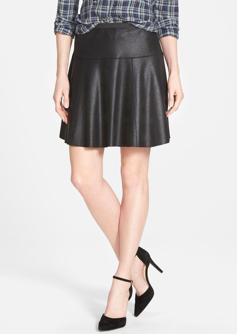 faux leather skater skirt skirts