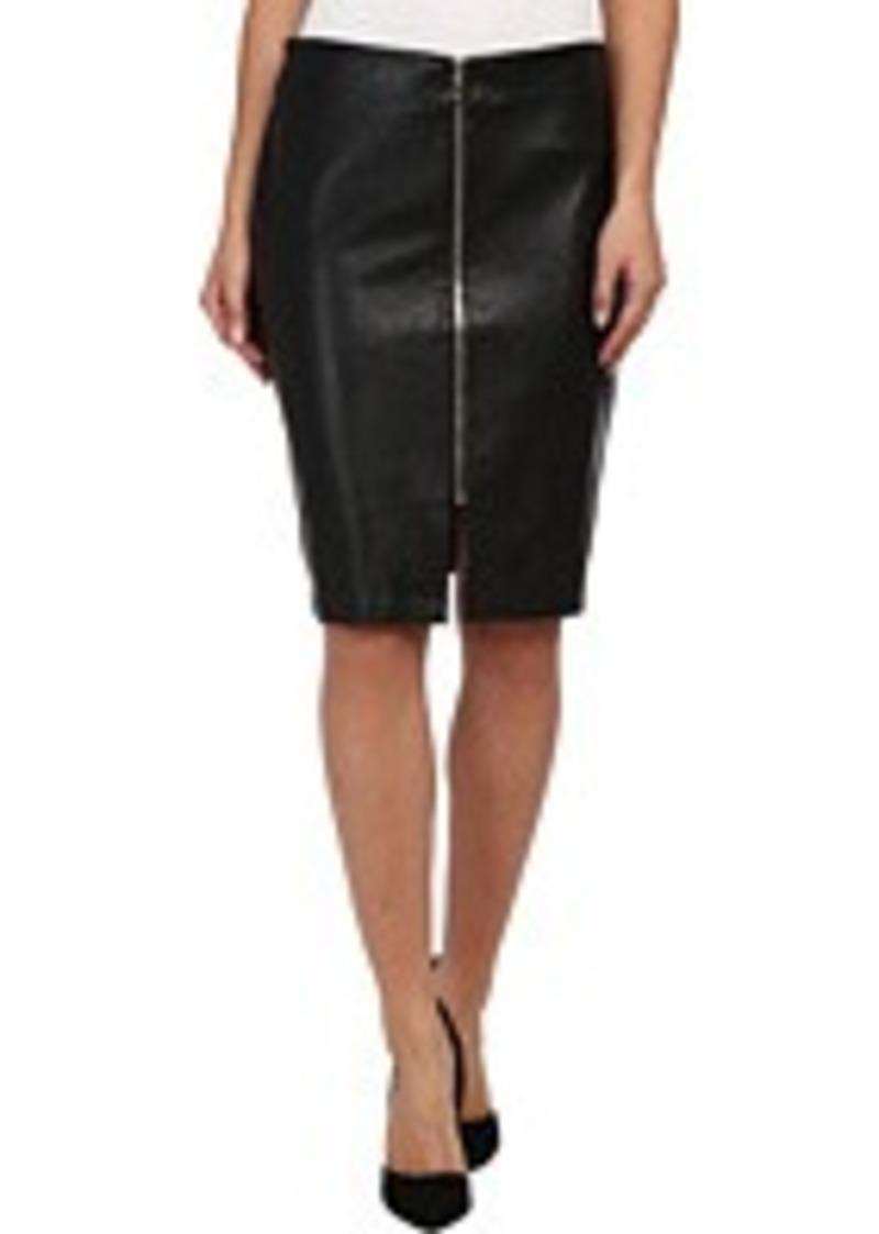 vegan leather zip skirt skirts