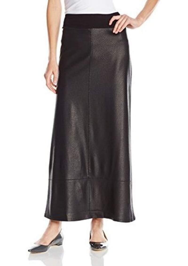 s faux leather maxi skirt