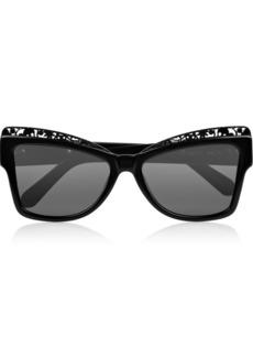 Karen Walker Atomic cat eye acetate sunglasses