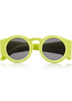 Karen Walker Blue Moon round-frame neon acetate sunglasses