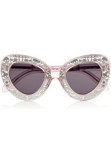 Karen Walker Intergalactic cat eye acetate sunglasses