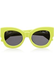 Karen Walker Northern Lights cat eye neon acetate sunglasses