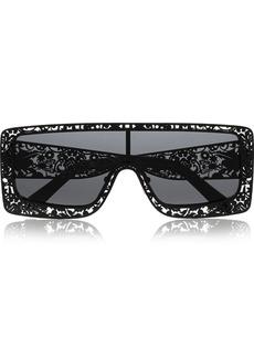 Karen Walker The Butler square-frame cutout acetate sunglasses